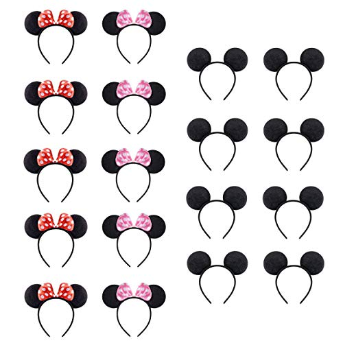 NEWTGAN 18 PCS Mouse Ears for Birthday Party Theme Park Costume Play Celebration for Boys and Girls