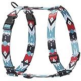 HAVNBERG - Pettorina per cani di taglia piccola, media e grande, pettorina con H, colore: nero, rosso, turchese, bianco, Navajo Design taglie S, M, L (Navjao, S)