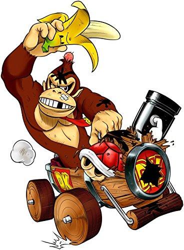 Okiwoki T-Shirt Noir Mario Kart - Donkey Kong parodique Donkey Kong : Kart Fighter - Player 4 (Parodie Mario Kart - Donkey Kong)