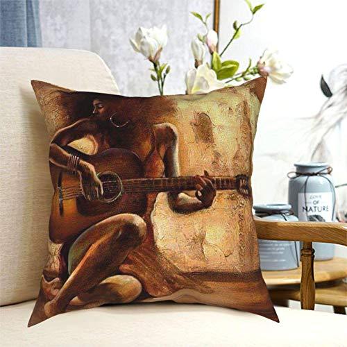 U/k Black Art - Fundas de almohada cuadradas para decoración del hogar, para sofá, dormitorio, coche, 45,72 x 45,72 cm