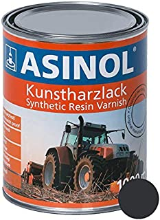 ASINOL KOMATSU GRAU 1.000 ml Kunstharzlack Farbe Lack 1l Liter Dose