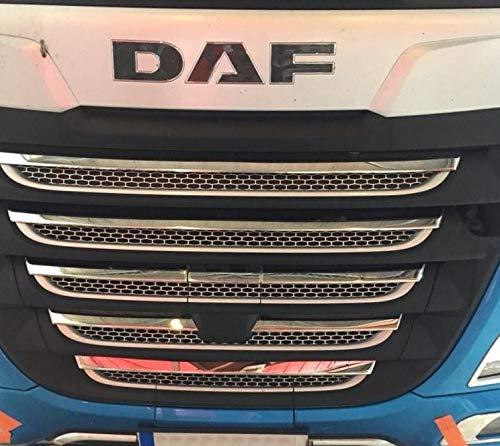 24/7Auto 19 stuks RVS front grill bekleding covers voor nieuwe DAF XF 106 trucks spiegel gepolijst decoratie