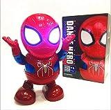 ZSKJ Danse Iron Man Danse Hero Jouets Danse Robot avec Lumière Musique Danse pour Garçon Filles Enfants Enfants Cadeau (Spiderman)