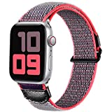 JUVEL Compatible con Apple Watch Correa 44mm 42mm, Correa Deportiva Suave de Nylon Transpirable Muñequeras de Repuesto Compatibles con Apple Watch SE/iWatch Series 6/5/4/3/2/1, Gris Azul