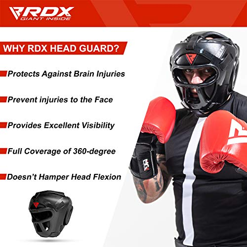 RDX MMA Kopfschutz Boxen Gitter Kampfsport Boxtraining Kickboxen UFC Sparring Headgear Abbildung 2