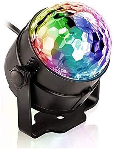 LAZNG Luces de fiesta activadas de sonido con control remoto DJ Iluminación for casas de hogar Fiestas de baile Cumpleaños DJ Bar Karaoke Navidad Boda Show Club PU (7~14 días ¡Entrega!)