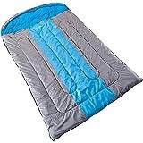 skandika Orkney - Saco de Dormir Rectangular para Acampada, Color Azul, Talla 235 x 150 cm