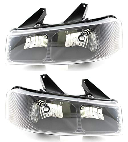 For Chevrolet Chevy/Gmc Express/Savana Headlight 2003 2004 2005 2006 2007 2008 2009 2010 2011 2012 Driver and Passenger Side Headlamp Assembly Replacement