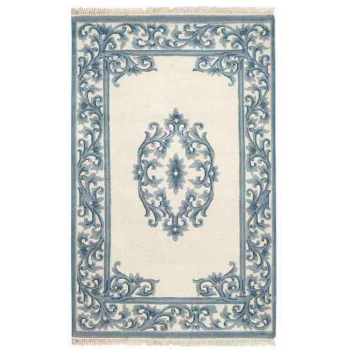 Home Decorators Collection Filigree Aubusson Area Rug, 2'4'x4', Blue