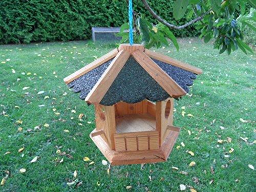 Vogelfutterhaus Putzklappe lasiert