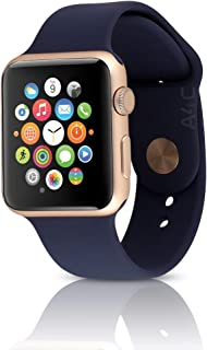 Apple Watch Series 1 38mm Smartwatch (Gold Aluminum Case, Midnight Blue Sport Band) (Renewed)