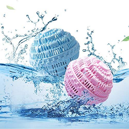 Warooma - Set di 4 palline per la pulizia della biancheria, ideali per asciugare il bucato, senza cerniere, prodotti ecologici, lavabili in lavatrice, molecole