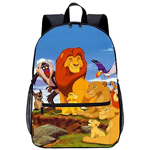 KKASD Le roi Lion sac à dos imprimé en 3D Sac à dos décontracté sac à dos pour enfants de mode 45x30x15cm Sac à dos d'école pour enfants