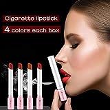 YHJGKO 4 Colores Rojos del lápiz Labial Mate Set, Estera Impermeable Creativas Tubos de Maquillaje Labios Rojos Labios Rojos Desnudos sostenible