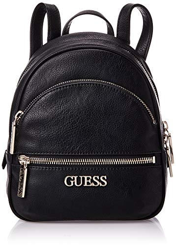 Guess, Manhattan Small Backpack para Mujer, Negro, Talla única