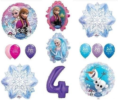 LoonBalloon FROZEN Anna ELSA OLAF Snowman Snowflake 4th  4 (12) Birthday Party Balloons Set by LoonBalloon