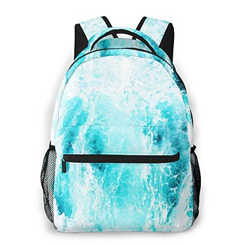 Laptop Rucksack Schulrucksack Rauer Seeschaum, 14 Zoll Reise Daypack Wasserdicht für Arbeit Business Schule Männer Frauen