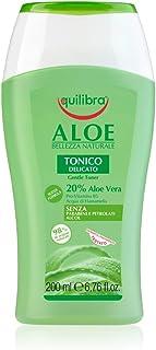 Equilibra Viso, Aloe Tonico, Tonico Viso a Base di Aloe Vera, Leggero, Delicato, Struccante, Asporta Ogni Traccia di Impur...