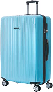 Suitcases with Spinner Wheels Large Luggage TSA Lock ABS + PC [ Sky Blue ] 29-Inch German Design Luggage for Travel/Women/Men/Business/Trip [ 1 year warranty ]