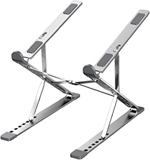 """Portable Laptop Stand ,Foldable Adjustable Aluminium Alloy """"9+6"""" gear height Angle can be adjusted Notebook Stand,Ventilat..."""