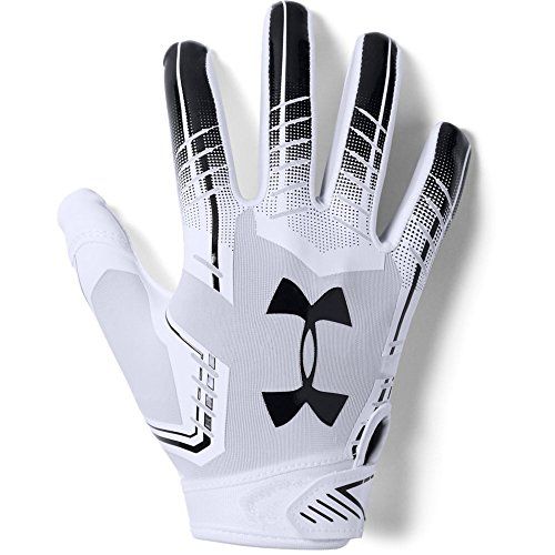 Under Armour boys F6 Youth Football Gloves White (101)/Black Youth Medium