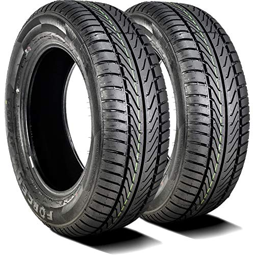 Set of 2 (TWO) Forceum D800 All-Season Touring Radial Tires-195/65R15 195/65/15 195/65-15 91V Load Range SL 4-Ply BSW Black Side Wall