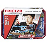 Meccano Erector, Advanced Machines Innovation Set, S.T.E.A.M. Building Kit with Real Motor