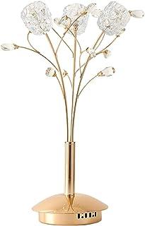 Lampes de table Lampe De Salon élégantes lampe de table en cristal chromé moderne pour la chambre à coucher Lampe de cheve...