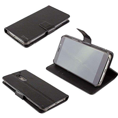 caseroxx Bookstyle-Case y Protector de Pantalla para UMI MAX, Set (Bookstyle-Case en Negro)