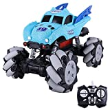 RC Truck Car for All Terrains, Masefu 1:12 Dance to Music Monster Car Toy, 45 Km/H High-Speed Remote Control Electric Car with Water Jet Function, on Mud Sand Rock Road Off-Land, for Kids Adults