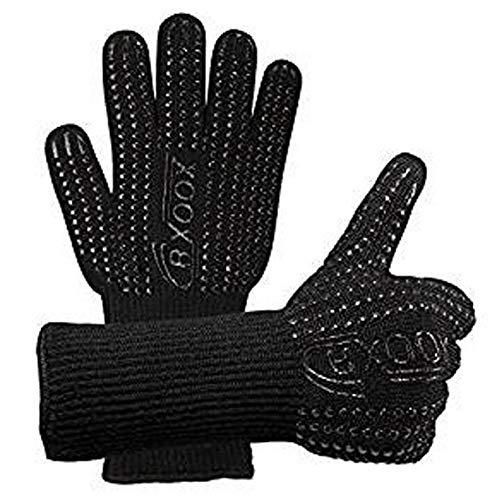 LAIABOR Grillhandschuhe Ofenhandschuhe Hitzefeste Handschuhe Hochtemperatur-Mikrowellen-Baumwollhandschuhe feuerfeste Anti-Verbrühungssilikon-Grillisolationshandschuhe