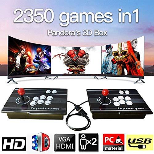HLLGAME 3D Home Arcade Game Console, Pandora's Box Doppelstock 1080P Retro-Videospiele Doppelstock-Arcade-Konsole, 2350 Klassische Spiele in 1 Arcade, SZ-04