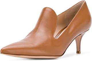 Women's Low Heels Slip on Loafer Stilettos Pumps Pointy Toe Slide Suede Prom Shoes