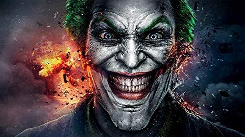 mmzki Gemälde löwe Joker Movie Canvas Painting Moderne Wandkunst Poster und Drucke Ölgemälde Wandbilder für Wohnzimmer Home Wand Bild 40X70 cm ungerahmt