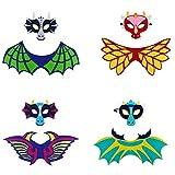 LOLANTA Kinder Dinosaurier Flügel und Filz Maske-Kostüm für Jungen Mädchen-Dragon Dress Up...