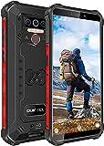 OUKITEL WP5 PRO (2021) Outdoor Handy Ohne Vertrag,4GB + 64GB 8000mAh Akku,5.5 Zoll IP68 Robustes,Android 10,Triple Kamera 4 LED Blitzlicht,Face/Fingerprint ID/Dual SIM Smartphone Wasserdicht(Schwarz)