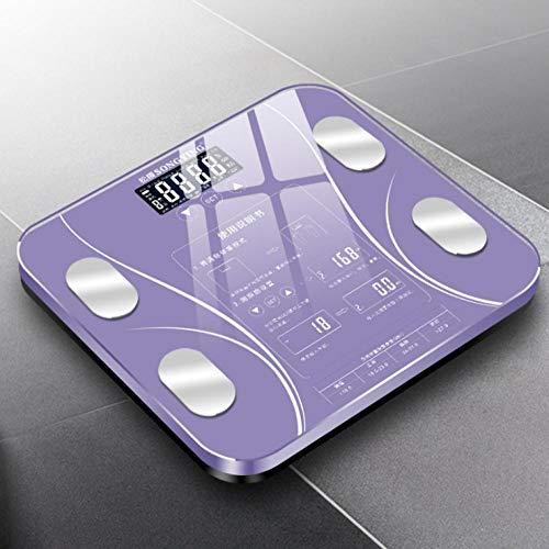 Personenwaage Haushalt Präzisionswaage Intelligente Fettwaage Körperfettwaage Weibliche Elektronische Waage Körper Gewicht Abnehmen Violett