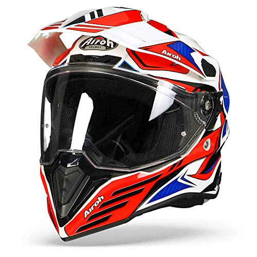 Airoh CMCA55 Commander Carbon Red Blue Gloss L, L