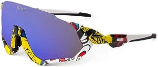Gafas de Sol para Ciclismo, Protección UV400 y Montura De TR-90 Resistentes a Golpes Antivaho para Hombre Mujer MTB Bicicleta Correr Montaña y Carretera