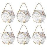 Cajas de Dulces, Cajas de Regalo duraderas seguras, Material de Papel ecológico para(Marble Large [Hand Carrying Rope])