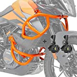 Set Defensas + Faro Adicional para KTM 390 Adventure 20-21 Naranja