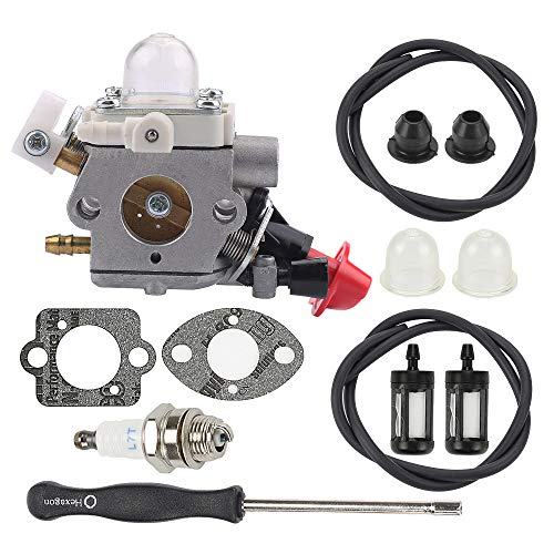Mckin C1M-S267A Carburetor Carb for Stihl FS40 FS50 FS56 FS70 FC56 FC70 HT56 HT56C KM56 KM56RC Trimmer Weed Eater Parts with Fuel Filter Line Adjustment Tool