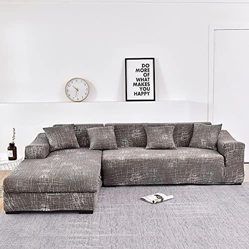 WXQY La Forma de L Necesita Pedir una Funda de sofá de 2 Piezas, Funda de sillón de Toalla de sofá elástica, para Funda de protección de Muebles de sofá de Esquina A26 2 plazas