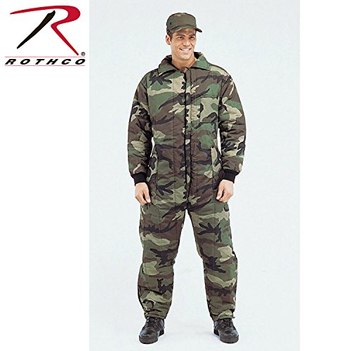 Rothco Insulated Coveralls, L, Woodland Camo