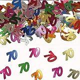 Konfetti Folat 05319 - Tischkonfetti Zahl 70 - bunt - 1 x 14 gr.