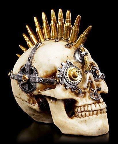 Steampunk Totenkopf Figur   Gears of War klein   Deko Schädel Skull