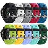 HWHMH Colorful Replacement Silicone Bands with Pin Removal Tools for Garmin Fenix 3 / Garmin Fenix 3 HR (No Tracker, Replacement Bands Only) (Pack of 10)