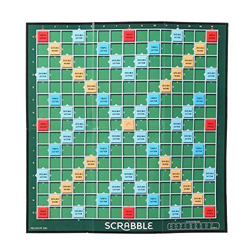 Generies Englisch Scrabble Brettspiel Kreuzworträtsel für Kinder Englisch Puzzle Board Rechtschreibung Tisch Puzzle Wort Lehre Hilfsspielzeug