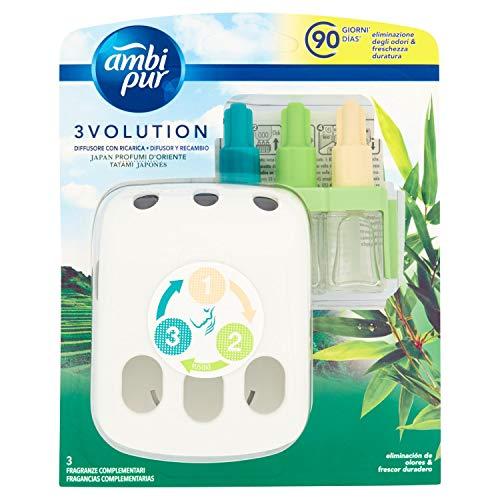Ambi Pur 3Volution Frescor de la Mañana Ambientador Eléctrico con 3 Fragancias - 21 ml