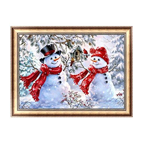 Lulujan Christmas 5D DIY Diamond Painting Kit Snowman Embroidery Cross Stitch Educational Kids Toy Home Wall Decor